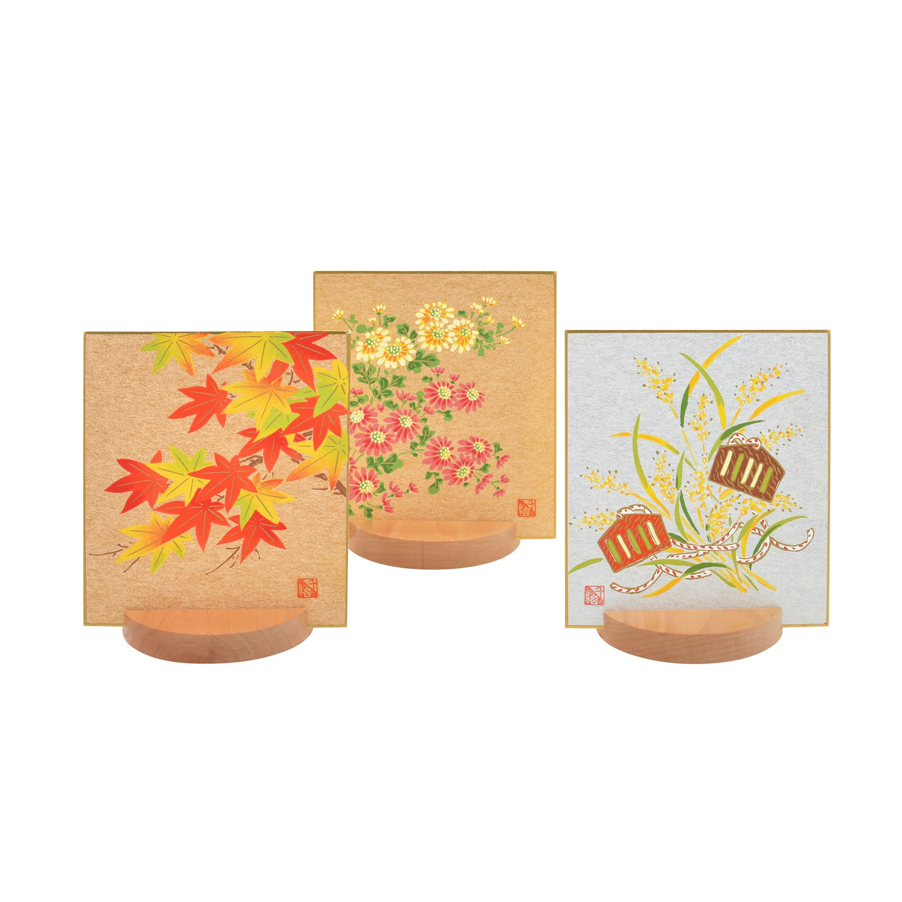 【友禅色紙】 秋のセット 05 | 小 3枚組